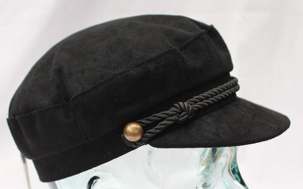 Attivo Nero Cappello Da Strillone Capitani Breton Stile Cappello 60cm- Materiali Superiori