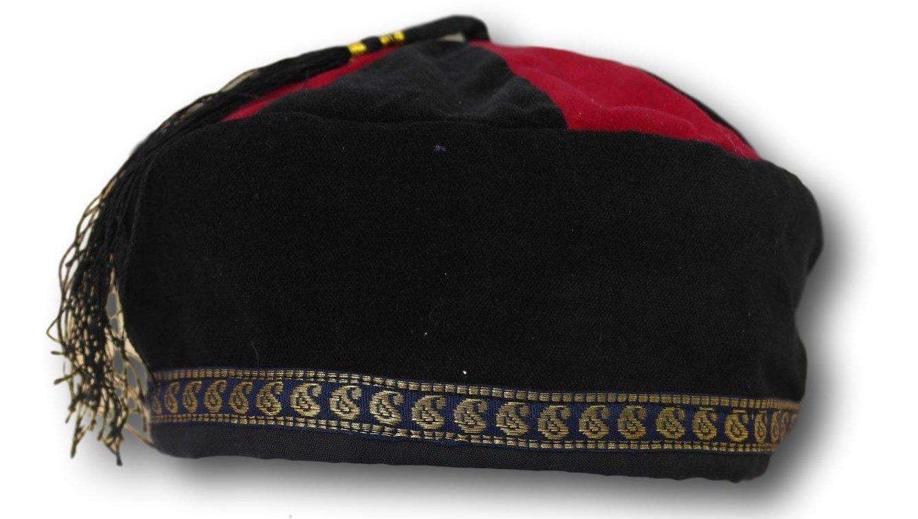 lounging cap  Size Medium thinking Tibetan Trim smoking