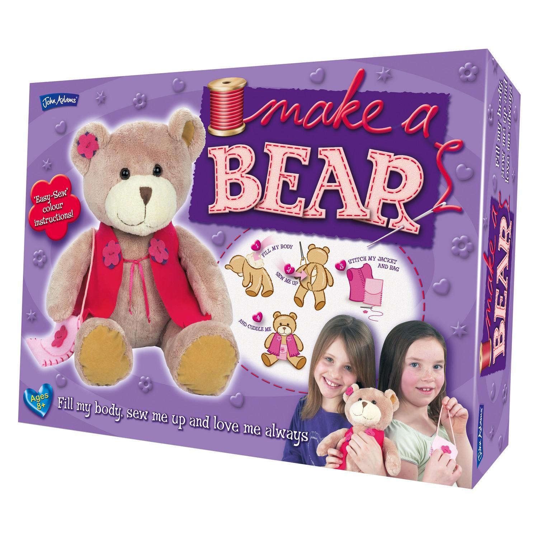 a7219803606 John Adams Easy Sewing Make A Teddy Bear Cute Jacket Brand New Tatty Toy  Kit 5015335032560