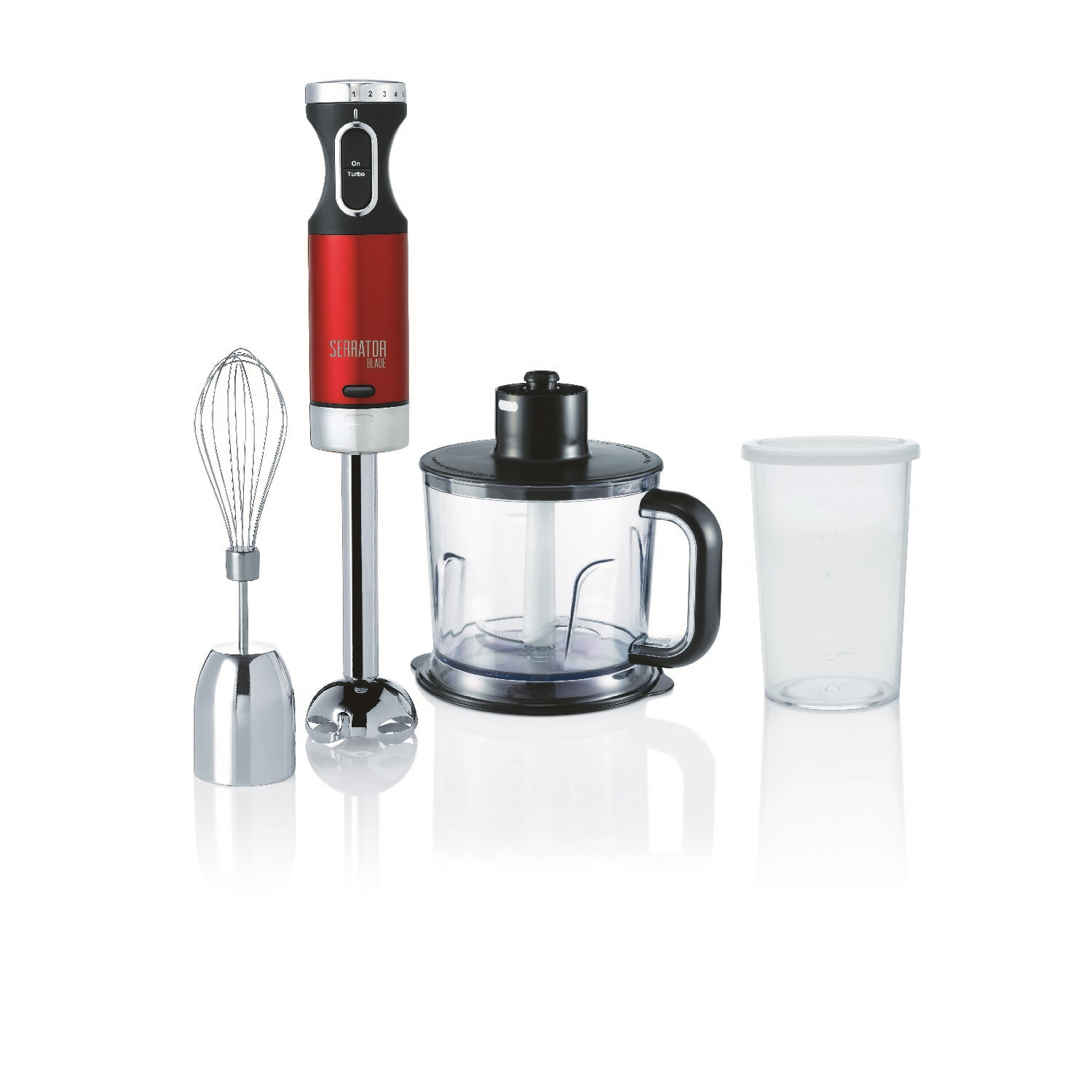 MORPHY RICHARDS ACCENTS 600W RED STAINLESS STEEL HAND BLENDER SET SERRATOR BLADE | eBay