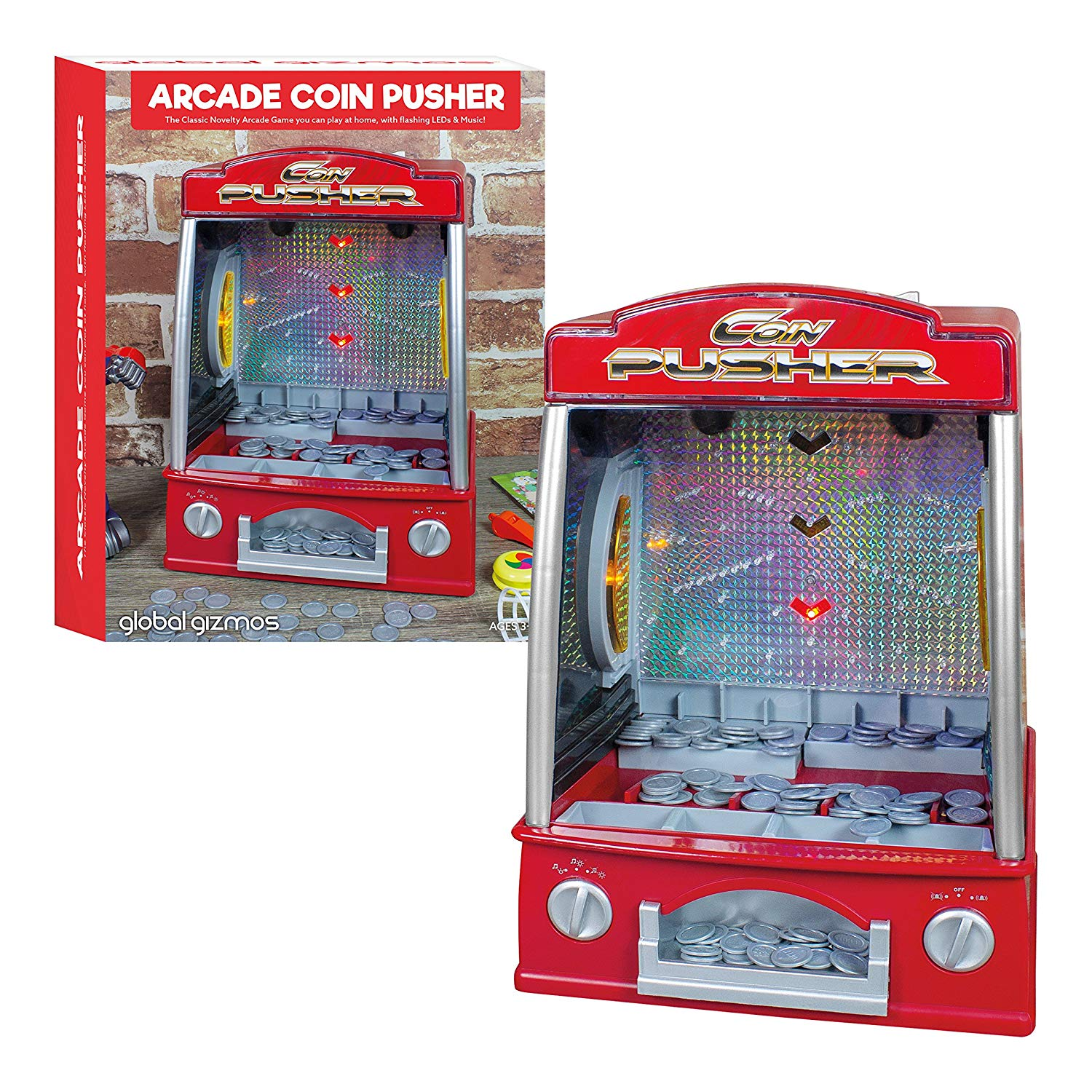 Electronic Games Kids Arcade Coin Pusher Retro Penny Falls Machine Christmas Gift Stocking Filler Games Electronic Games