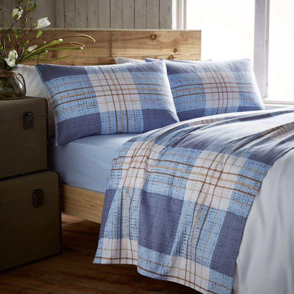 Brushed cotton bedding