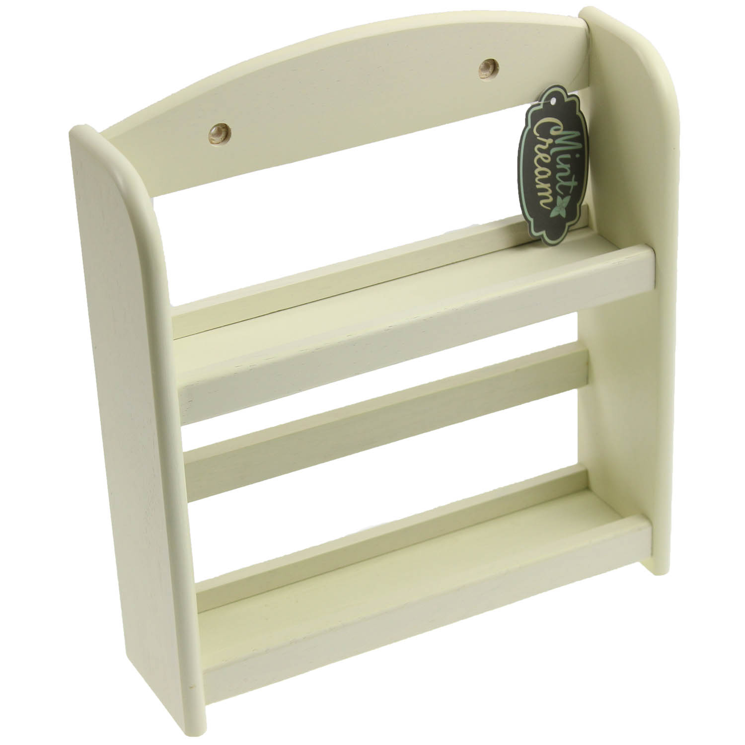 Woodworking Plans For Kitchen Spice Rack: 2 Tier Wood Cream Kitchen Spice Rack Shelf Storage