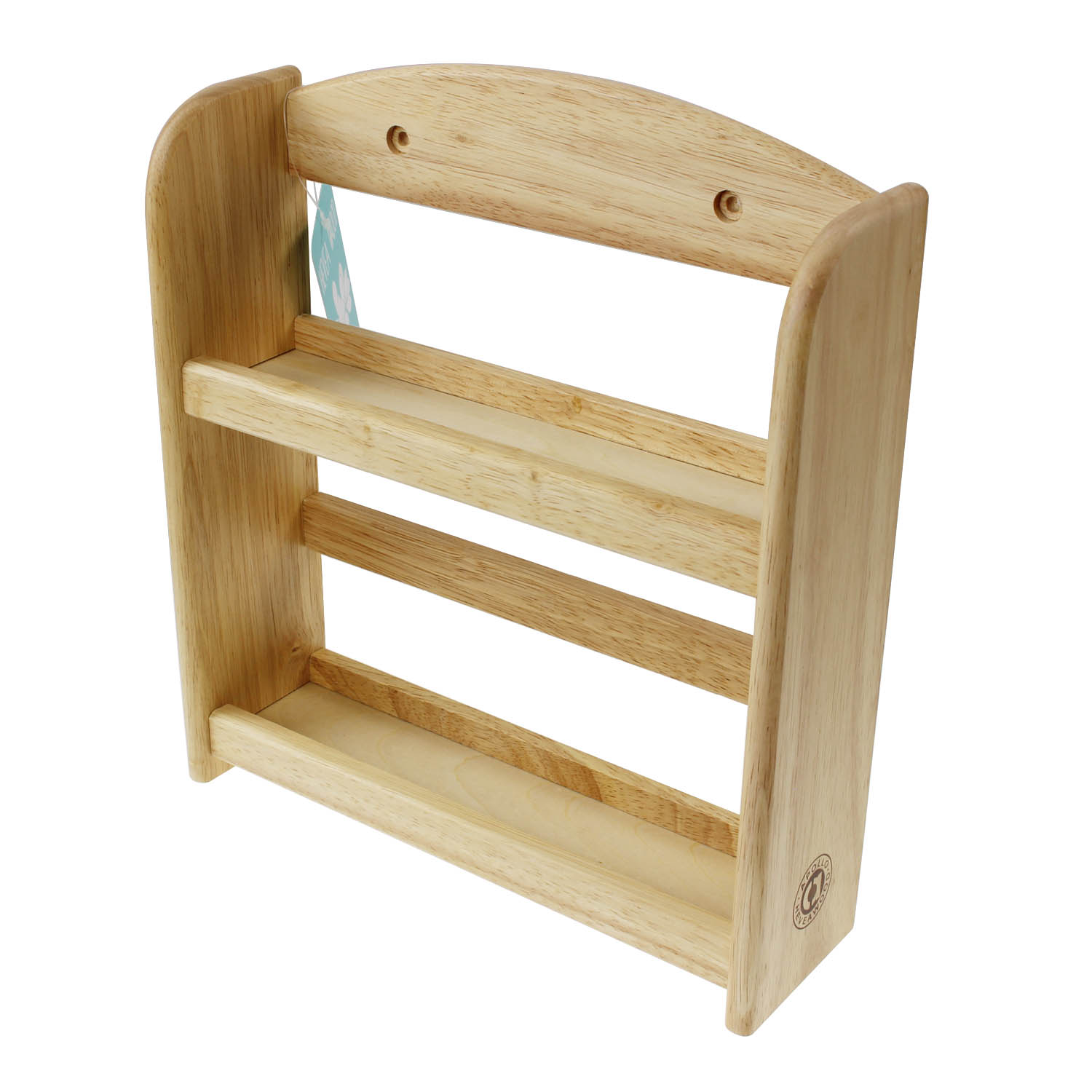 Woodworking Plans For Kitchen Spice Rack: 2 Tier Wall Mounted Hevea Natural Wood Kitchen Herb Spice
