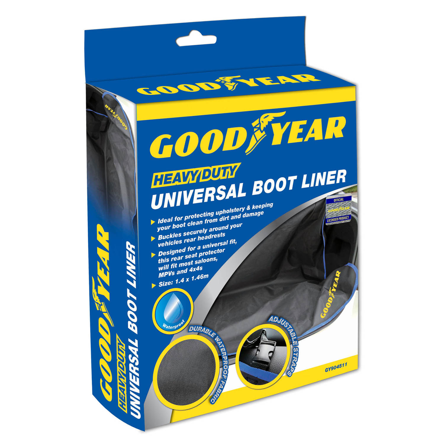 Goodyear Heavy Duty Universal Car Seat Cover Waterproof Dirt Pet Hair Protector
