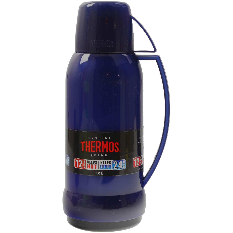 thermos jupiter 1 litre translucent blue glass lined insulated vacuum flask new ebay. Black Bedroom Furniture Sets. Home Design Ideas