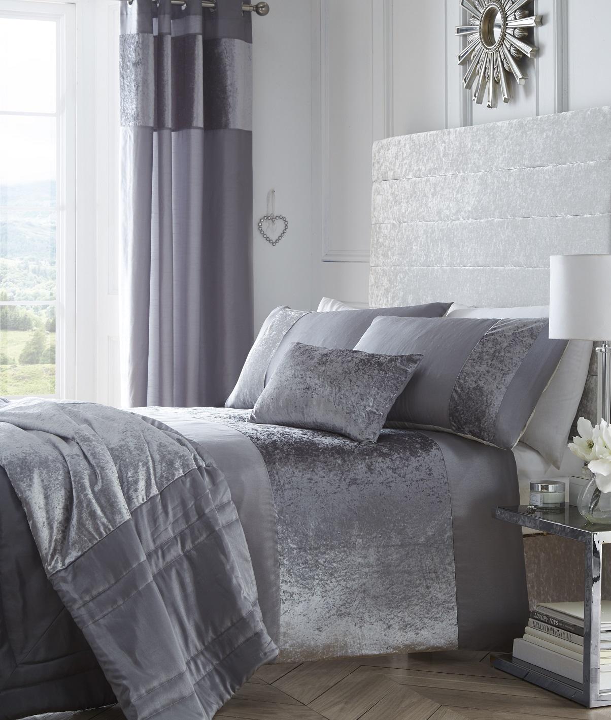 Hide A Bed Sheets: BOULEVARD DUVET COVER SET QUILT BEDDING OR CRUSHED VELVET
