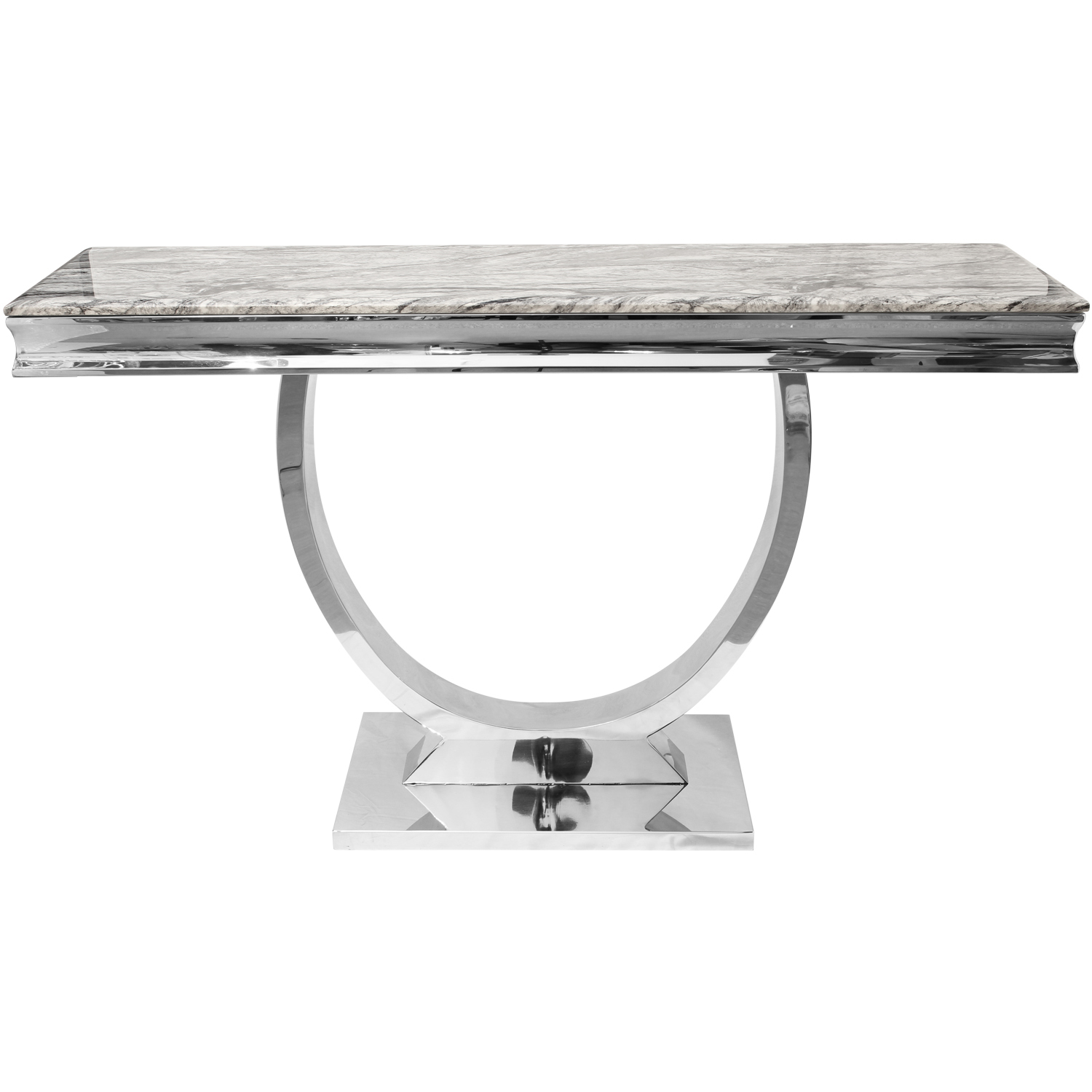 Grey Marble Top Coffee Table Side End Console Table Tv Stand Unit - Grey marble top coffee table
