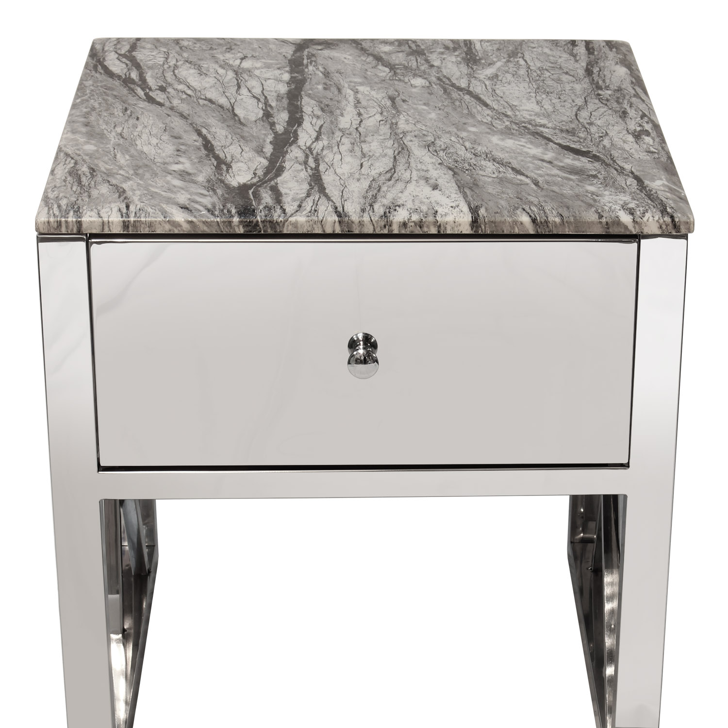 size 40 9aaec 3c699 Details about Side End Table Grey Marble Top Bedside Sofa Table With Drawer  Home Furniture
