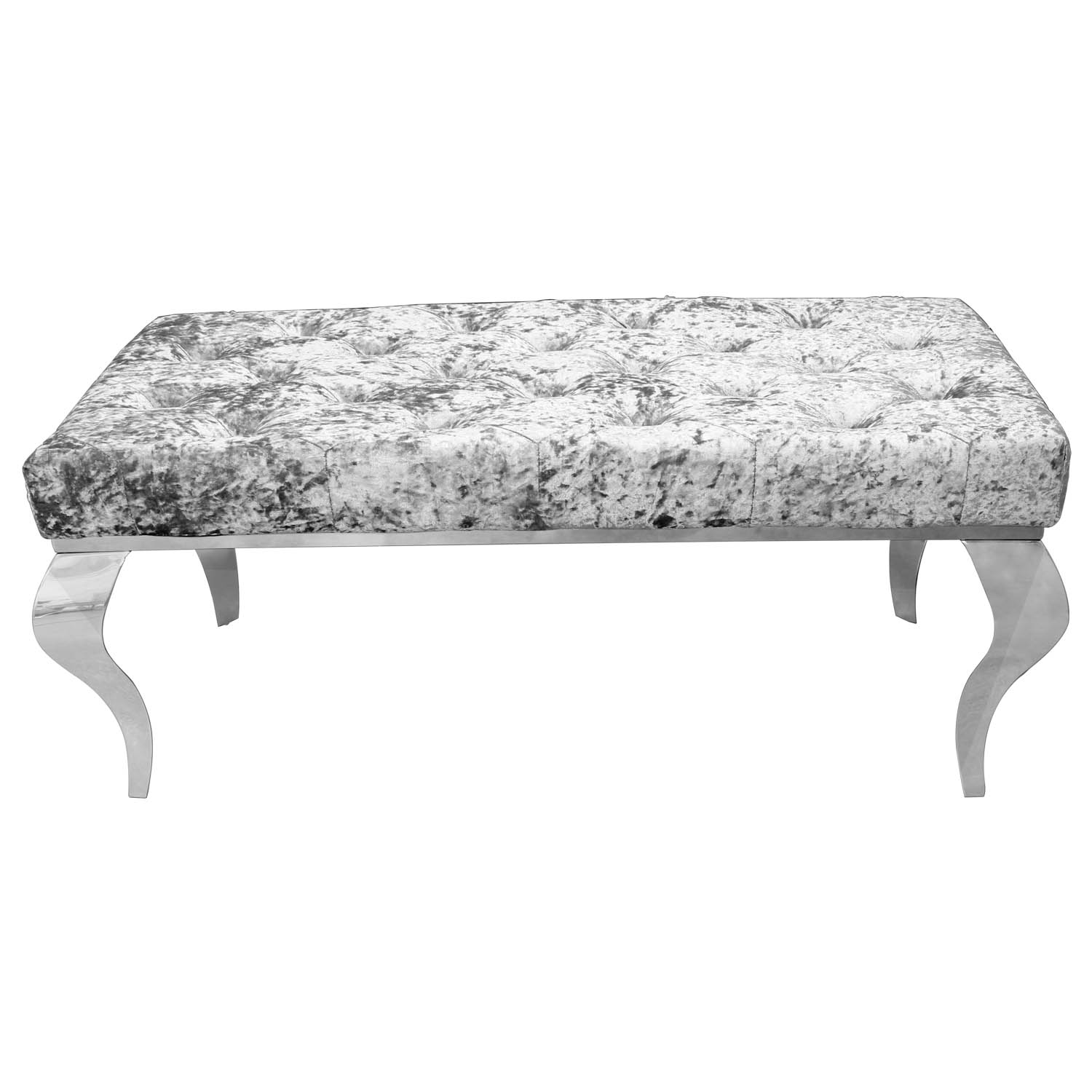 Details About Crushed Velvet Grey Bench Chaise Lounge Chair Living Room Sofa Seat Furniture