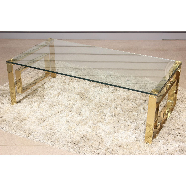 Geo Gold Metal Rectangle Coffee Table Modern Design Living Room Home Furniture Ebay