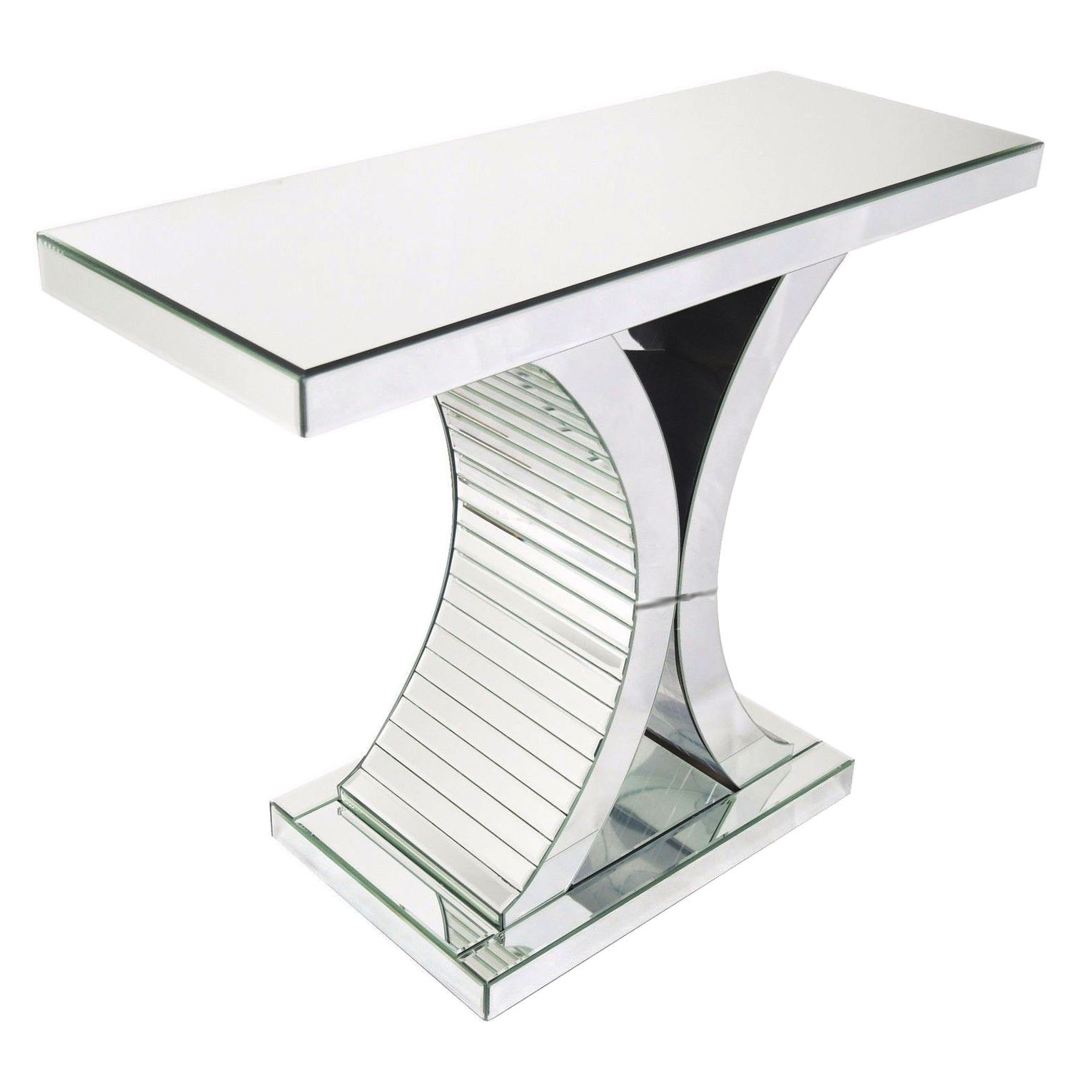 Details about mirrored glass x shape console table hallway desk side table living room decor