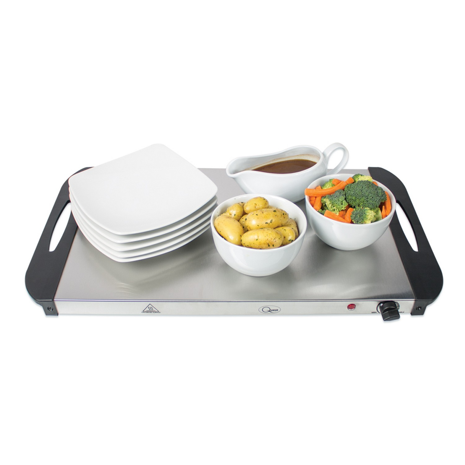 3 Tray Food Warmer ~ Buffet server warming tray hotplate with sections food