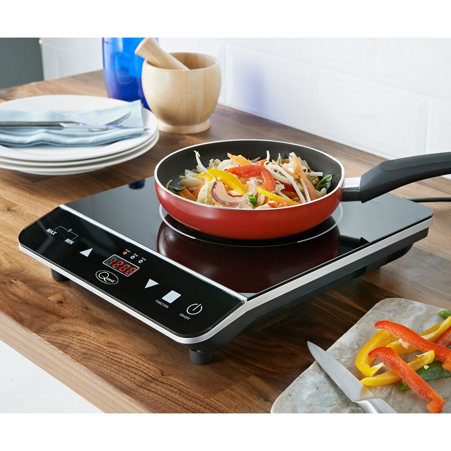 Single digital induction electric hob hot plate kitchen for Table induction 71 x 52