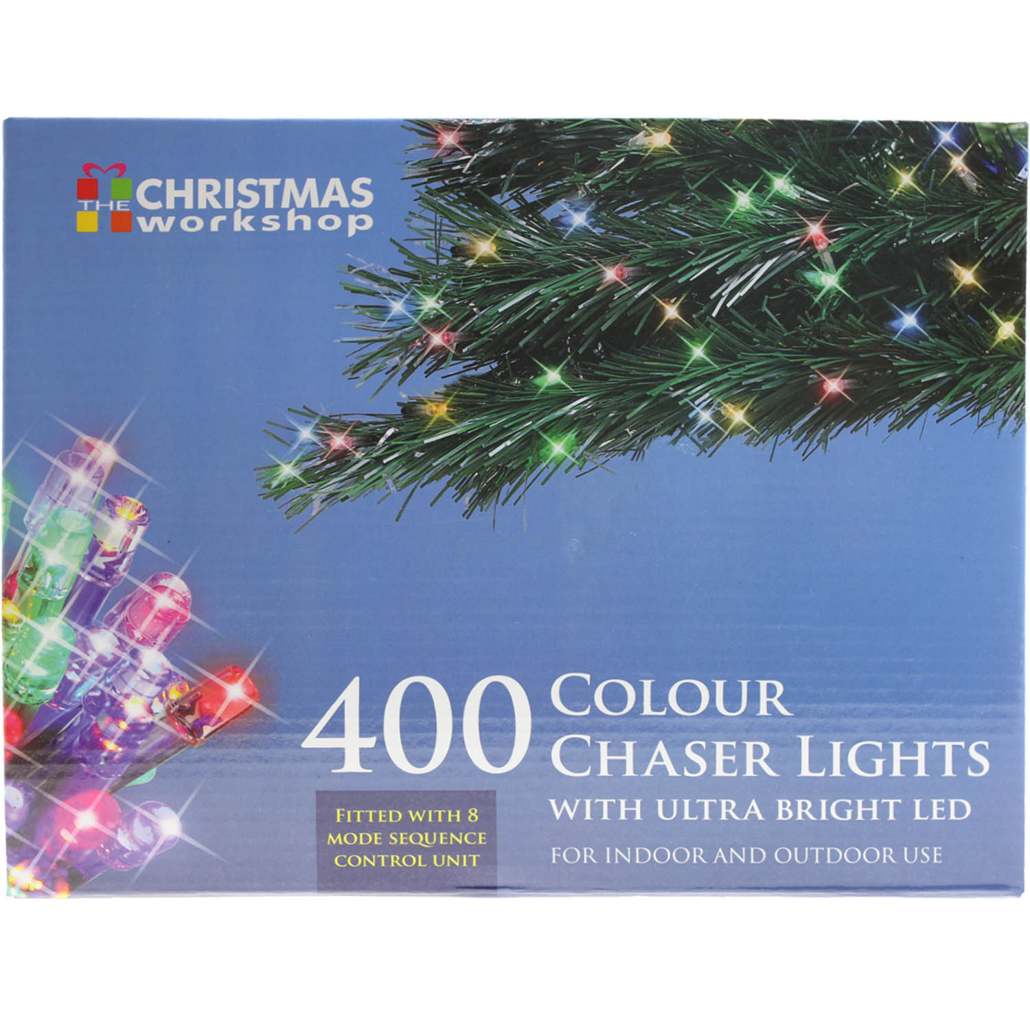 400 LED Multi Coloured Christmas Xmas Decoration Indoor or Outdoor Lights