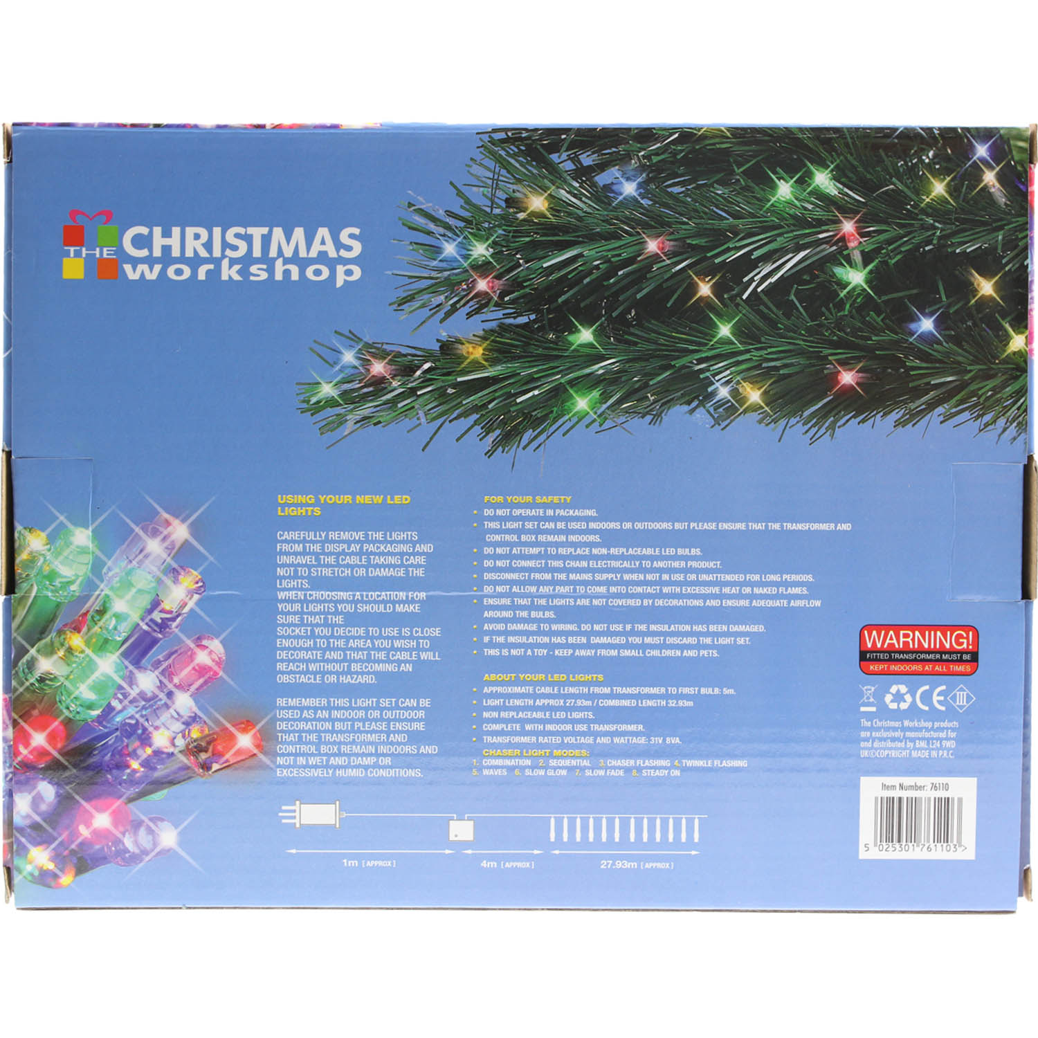 Details About 400 Multi Colour Indoor Outdoor Chaser Ultra Bright Christmas Xmas Led Lights