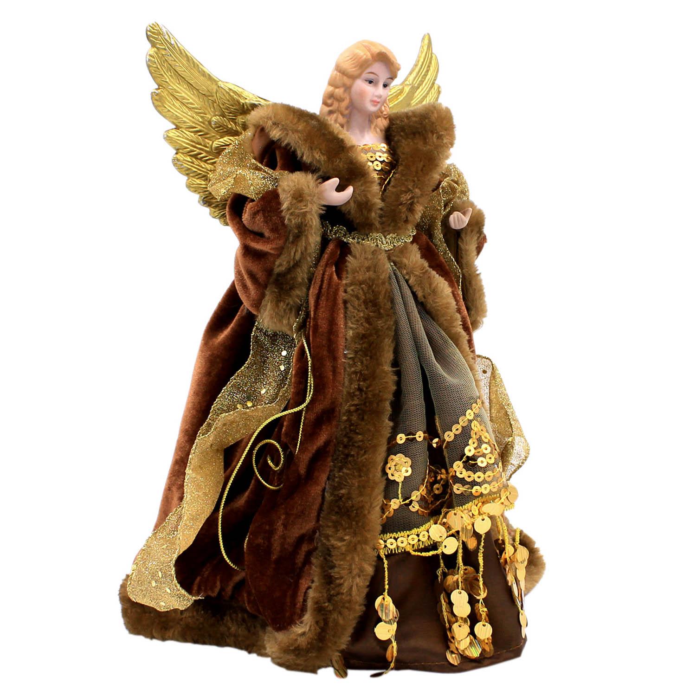 ALBERO-di-Natale-topper-tradizionale-Fata-Angel-Xmas-Tree-Top-Ornamento-Decorazione miniatura 6