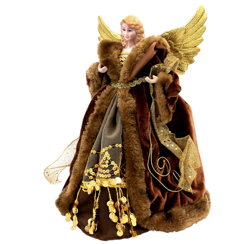 ALBERO-di-Natale-topper-tradizionale-Fata-Angel-Xmas-Tree-Top-Ornamento-Decorazione miniatura 7