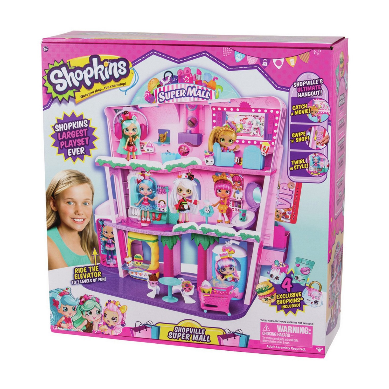 Shopkins shoppies SHOPVILLE SUPER centro commerciale Bambini Playset GIRLS DOLL HOUSE Figura Giocattolo