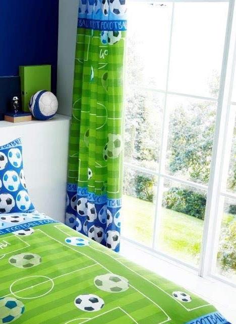 Details about Football Shoot Goal Kids Boys Bedroom Curtains Set 66\