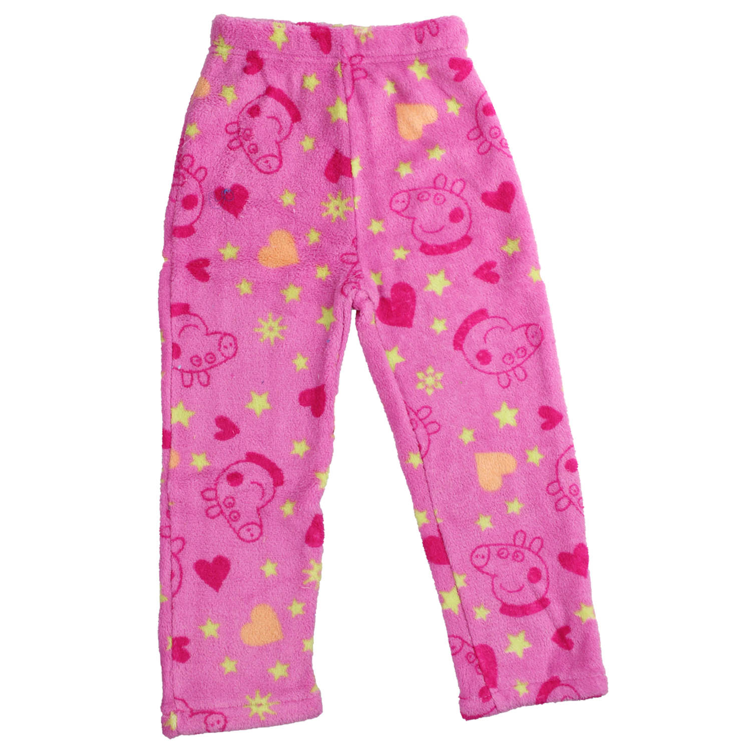 Peppa Pig Fleece Pajama. Long sleeved crew neck T-Shirt top with full  length bottoms. Made from 100% Coral Fleece fabric. Machine washable. 654489279