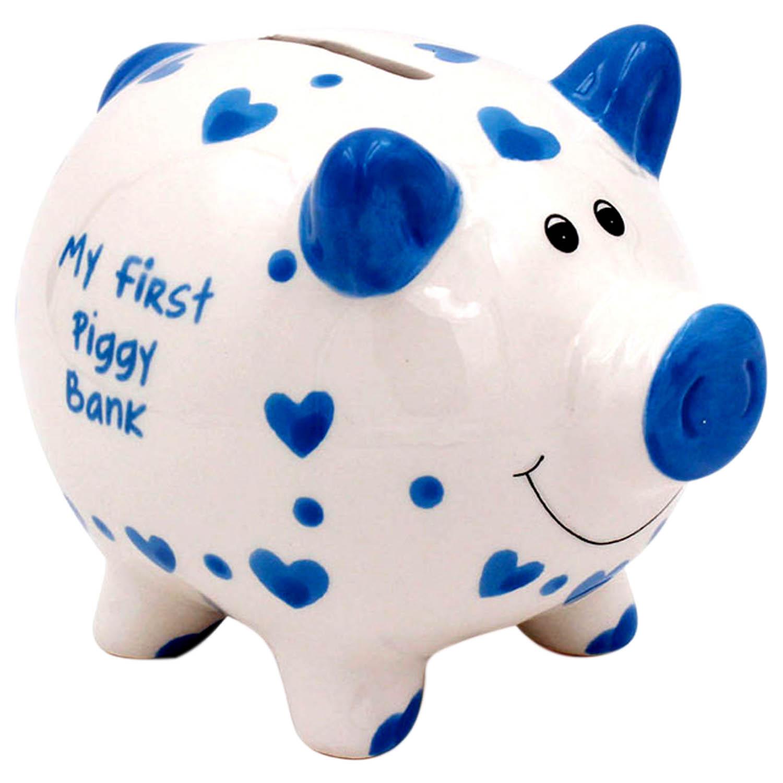 Baby Boy//Girl Ceramic Money Bank Blue//Pink Giraffe Design Keepsake Money Box