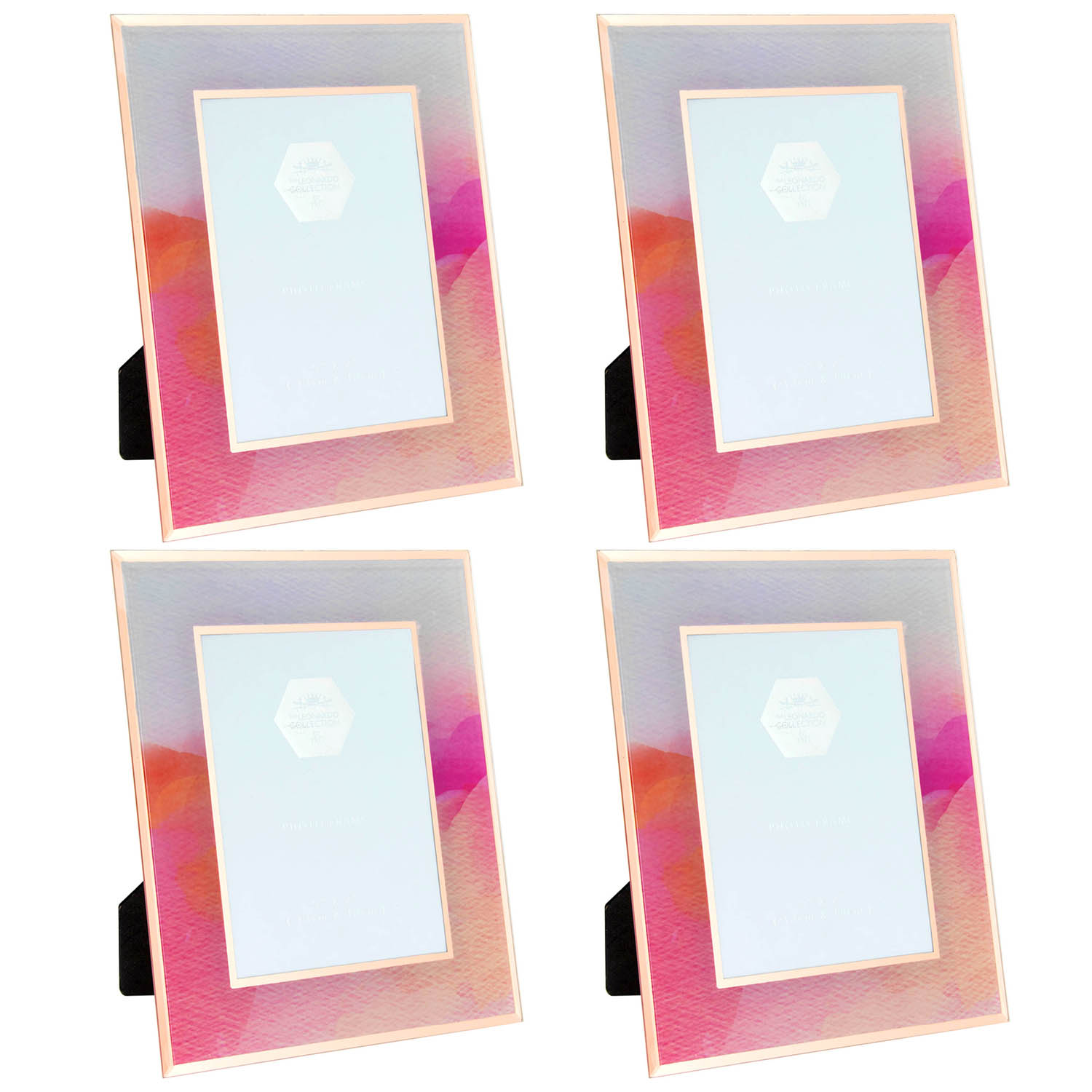 Set Of 2 Watercolour Photo Frame Picture Holder 5 x 7 Image Display Home Decor