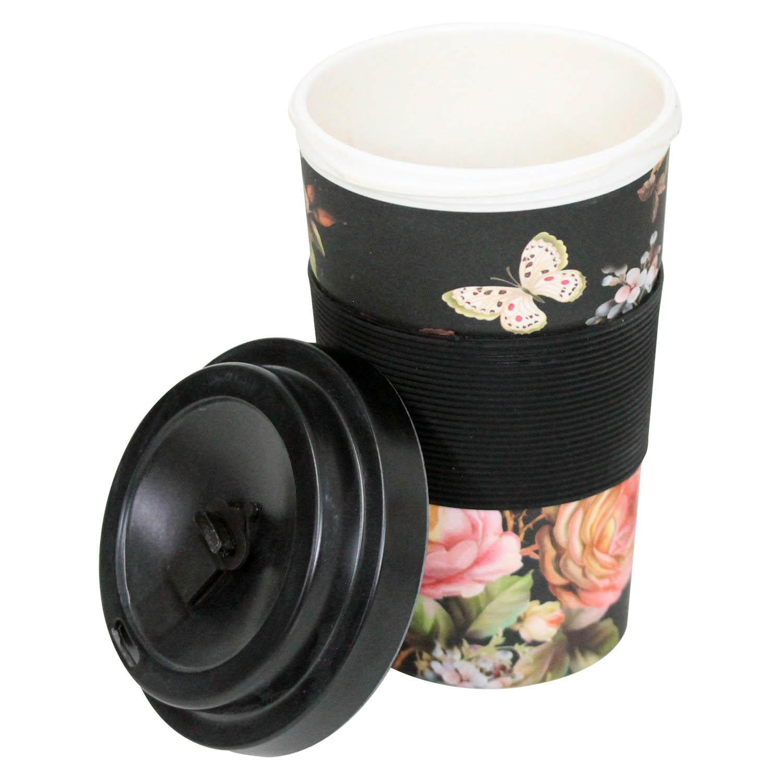 Floral Reusable Bamboo Eco Biogradeable Travel Mug