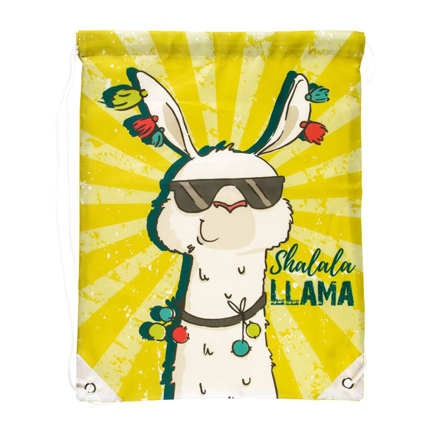 42x34cm Assorted Llama Novelty Drawstring Bag Backpack Gym Sack Kids Gift Idea