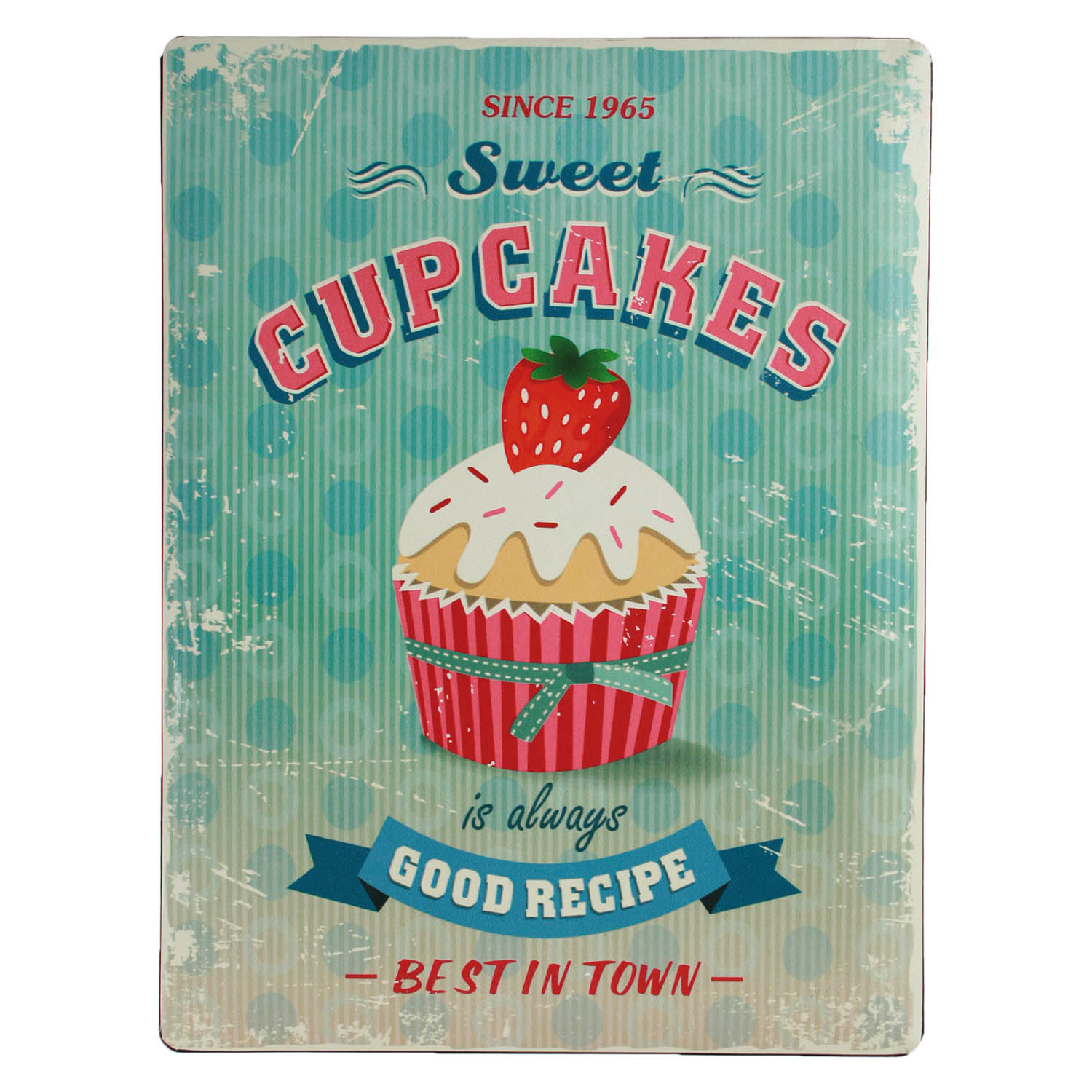 Details about Sweet Cupcakes Large Metal Wall Plaque Hanging Home Kitchen  Decoration Ornament