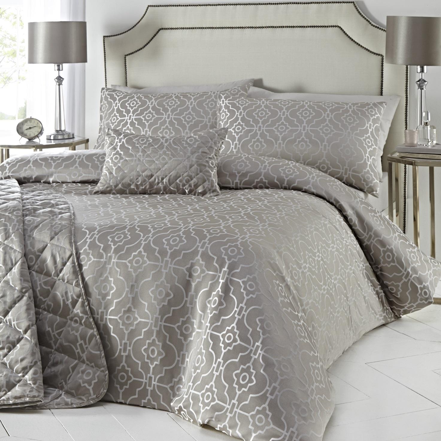 Luxury Geometric Embroidered Jacquard Duvet Cover Set Single Quilt Bedding Set Ebay