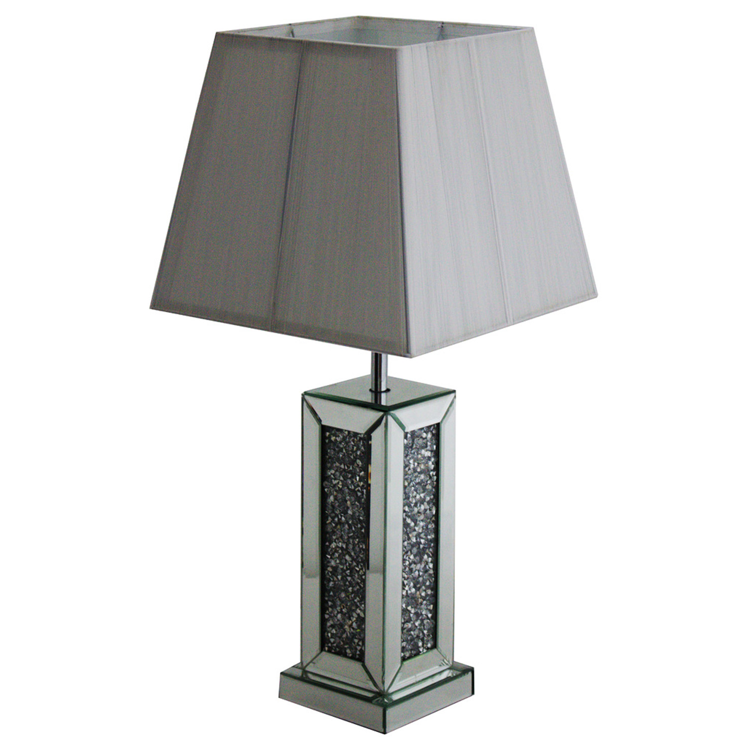 Details about modern mirrored glass bedside table lamp desk light office home lighting decor