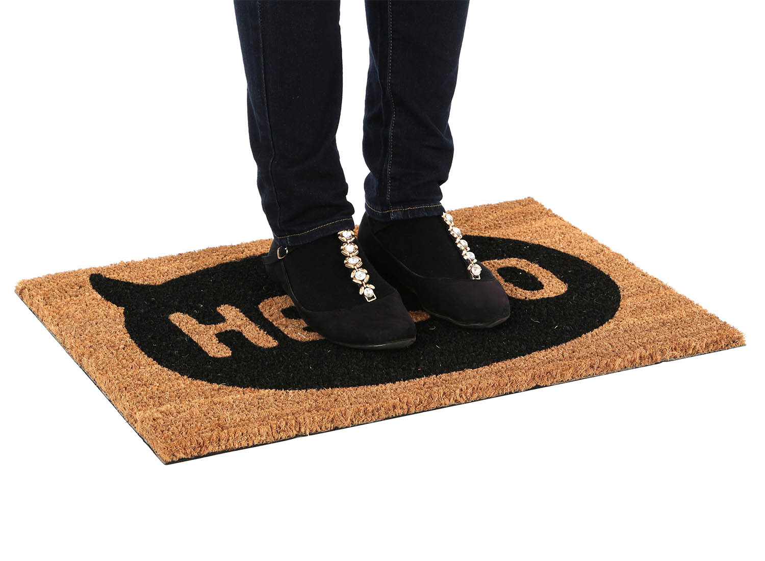 Stylish Front Large Non Slip Coir Doormats Pvc Mat Home Floor ...