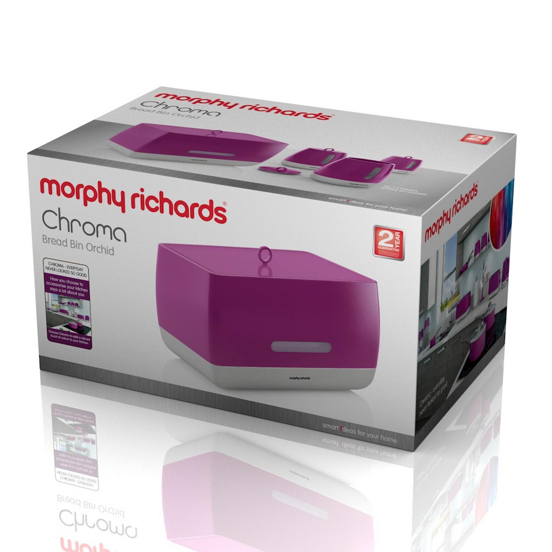 Morphy Richards Bread: Morphy Richards Chroma Bread Bin Orchid Large Kitchen Loaf