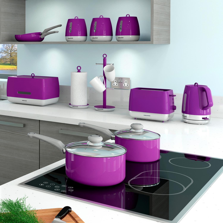 morphy richards chroma set of 3 tea coffee sugar food kitchen