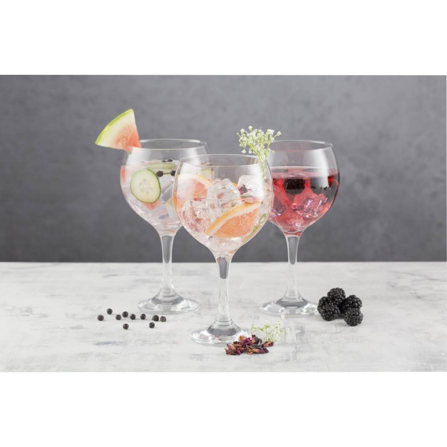 Chic /& Tonic Vibin On The Island Fishbowl Cocktail Glasses Set of 4 SEE PICTURES
