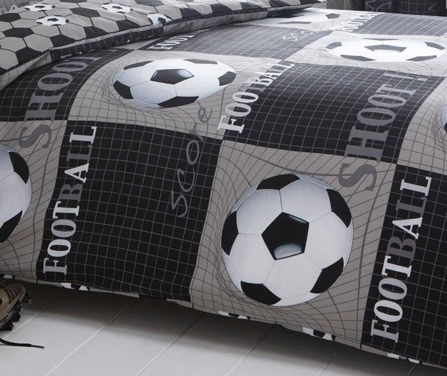 Football Soccer Shoot Kids Boys Duvet Quilt Cover Bedding