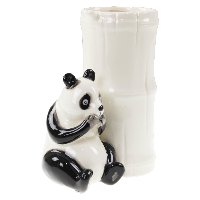 White Ceramic Panda Flower Vase Planter Pot Table Wedding Centrepiece Ornament