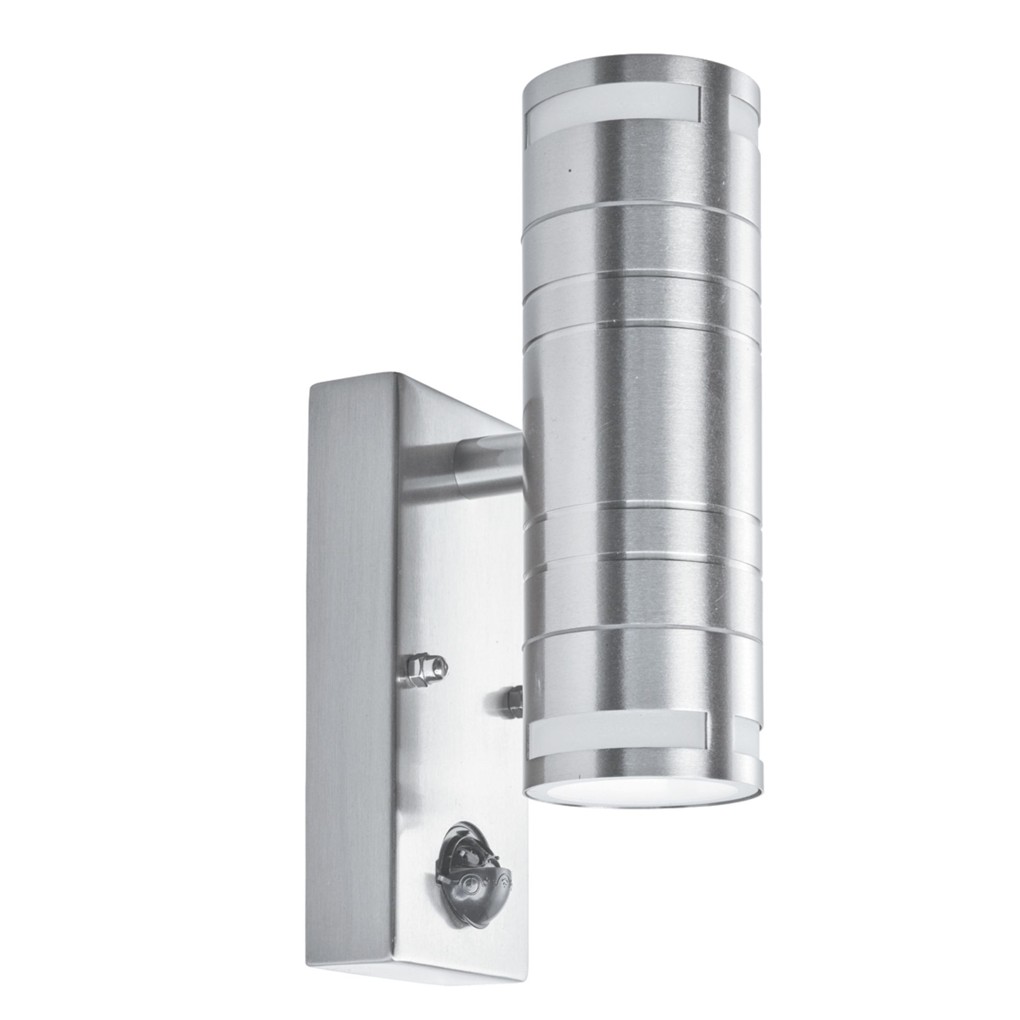 Ip44 Stainless Steel 2 Led Outdoor Exterior Patio Wall Mount Light Motion Sensor Ebay