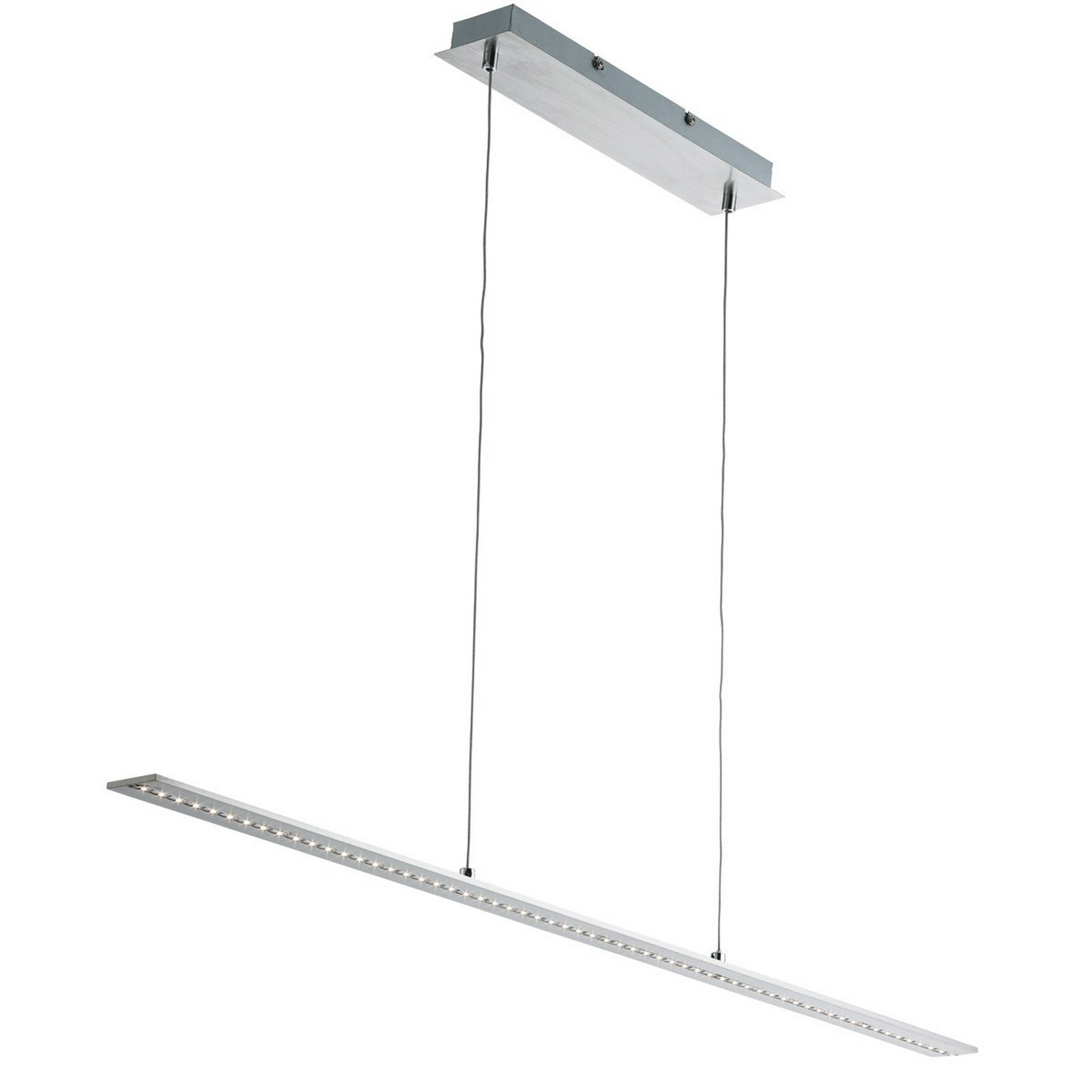Details about satin silver led straight bar light ceiling fitting home lighting clear glass