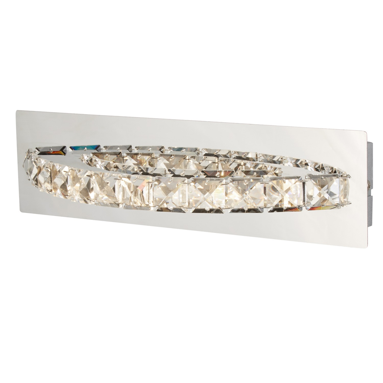 Searchlight Clover Led Chrome Curved Clear Crystal Wall Bracket Indoor Lighting Ebay