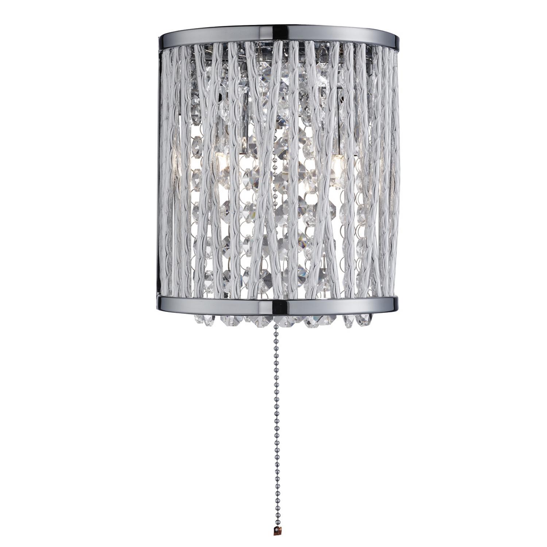Elise 2 Light Chrome Wall Bracket Fitting Crystal Drops Home Interior Lights New 5053423048512 Ebay