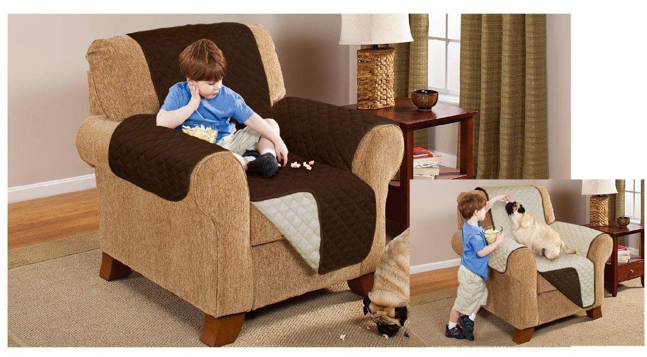 Reversible Quilted Sofa Protector Furniture Throw Cover Waterproof