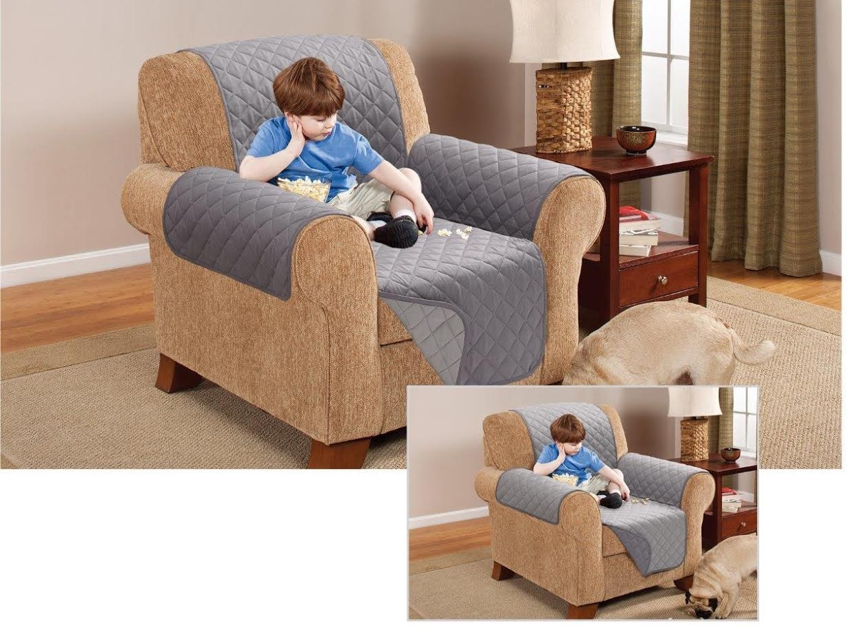 Reversible Quilted Sofa Protector Furniture Throw Cover