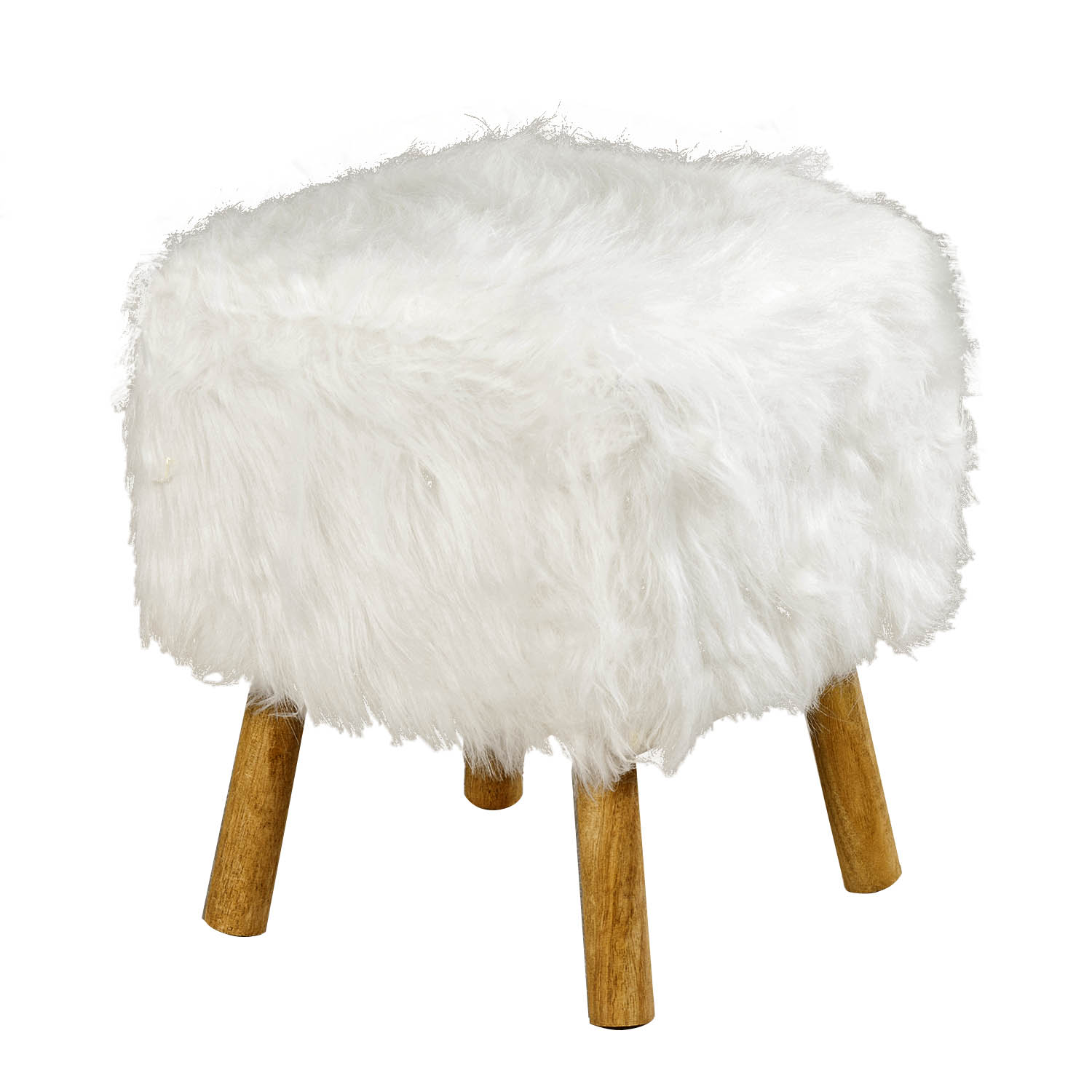 Excellent Details About Vidal Square White Faux Fur Wood Stool Luxury Soft Pouffe Wool Padded Footstool Pdpeps Interior Chair Design Pdpepsorg