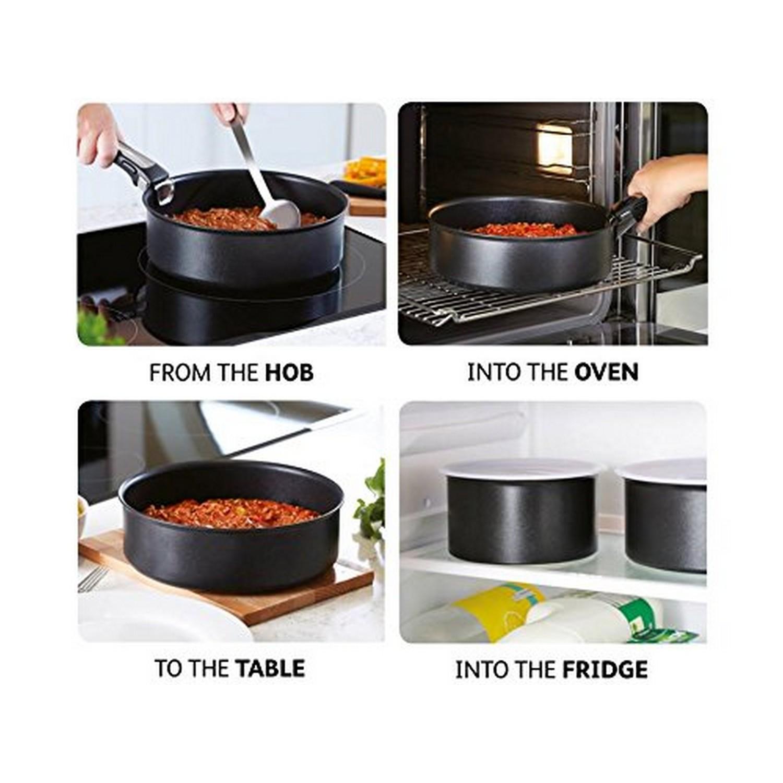 tefal ingenio essential non stick 7pc saucepan pan set. Black Bedroom Furniture Sets. Home Design Ideas