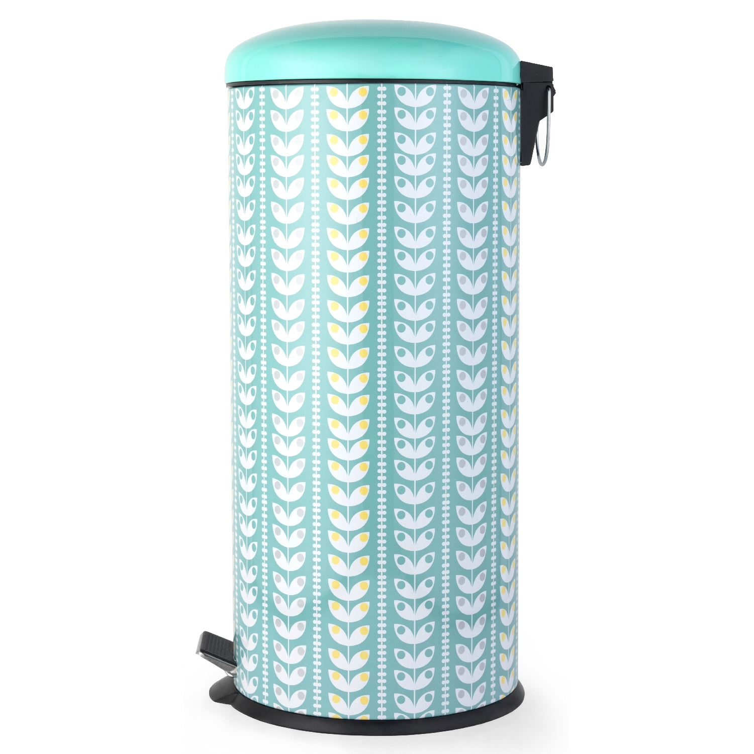 Salter Retro Leaf 30litre Turquoise Pedal Bin Rubbish Dust Waste ...