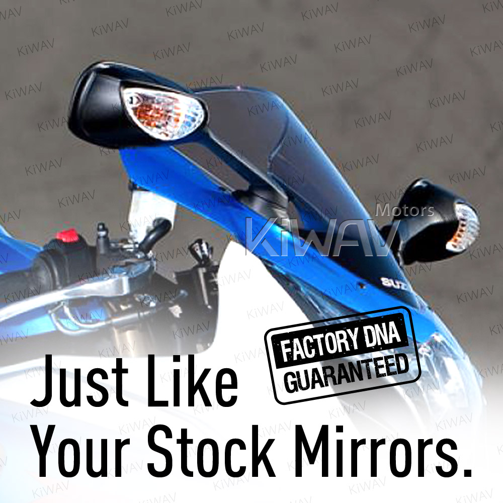 Replacement Motorcycle Mirrors Left Right Pair For Suzuki GSX-R 1000 09-16