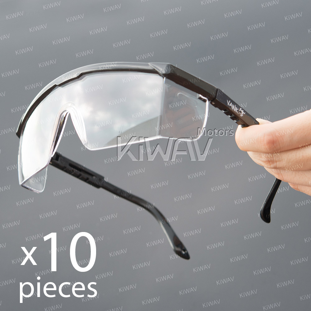 VAWiK-safety-glasses-VA200-clear-lens-black-frame-10pcs-EN166-CE-for-carpenters