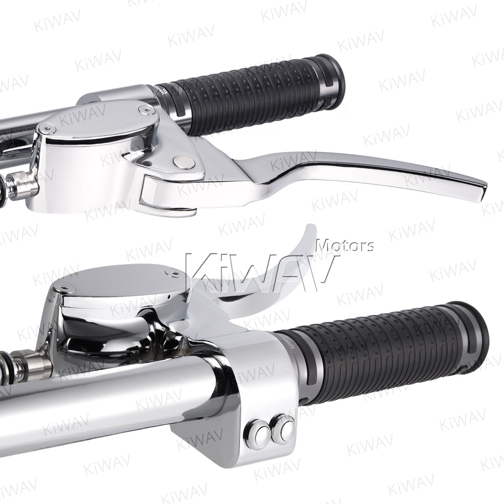 CNC-chrome-hand-control-set-master-cylinder-dual-single-disc-lever-switch